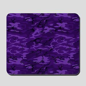 Dark Purple Camouflage Mousepad