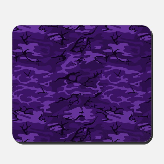 Dark Purple Camouflage Mousepad