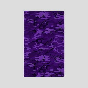 Dark Purple Camouflage Area Rug