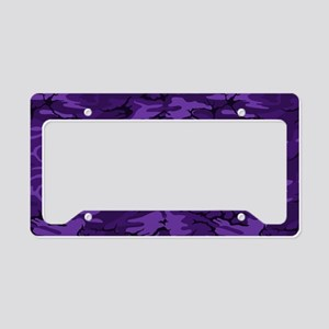 Dark Purple Camouflage License Plate Holder