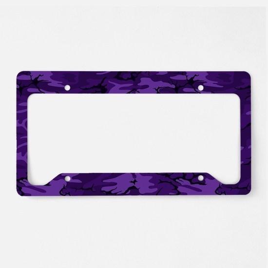 Dark Purple Camouflage License Plate Holder