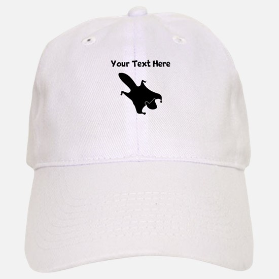 Custom Flying Squirrel Silhouette Baseball Baseball Baseball Cap