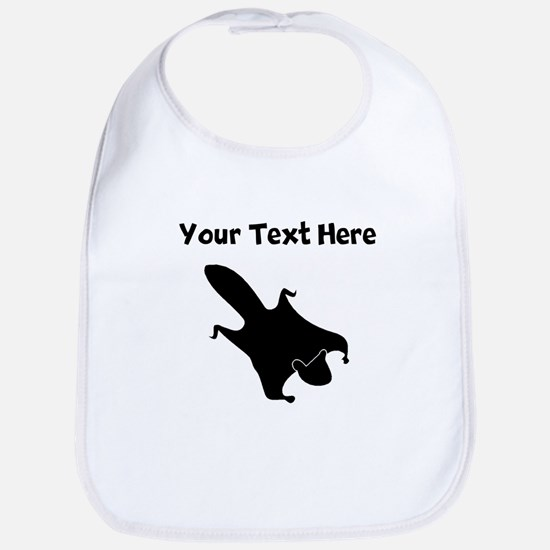 Custom Flying Squirrel Silhouette Bib