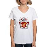 Ballastros Family Crest Women's V-Neck T-Shirt