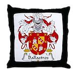 Ballastros Family Crest Throw Pillow
