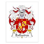 Ballastros Family Crest Small Poster