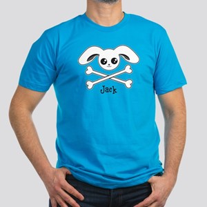 Bunny Crossbones Men's Fitted T-Shirt (dark)