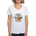 Balencegui Family Crest  Women's V-Neck T-Shirt