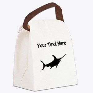 Custom Swordfish Silhouette Canvas Lunch Bag