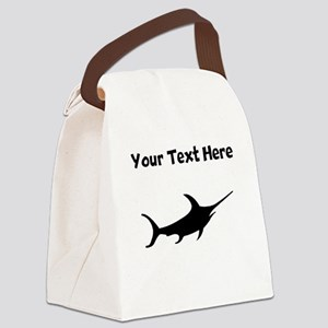 Custom Swordfish Silhouette Canvas Lunch Bag