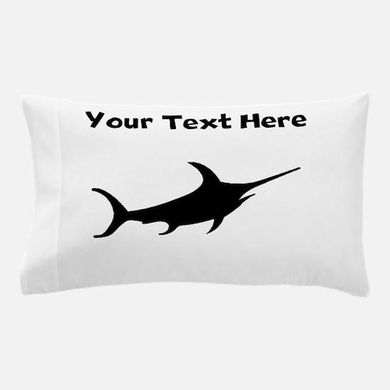 Custom Swordfish Silhouette Pillow Case