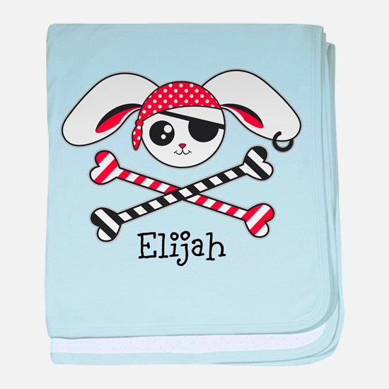 Pirate Bunny baby blanket