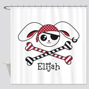 Pirate Bunny Shower Curtain