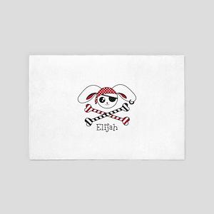 Pirate Bunny 4' x 6' Rug