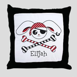 Pirate Bunny Throw Pillow