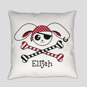 Pirate Bunny Everyday Pillow