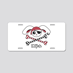 Pirate Bunny Aluminum License Plate