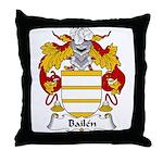 Bailen Family Crest Throw Pillow