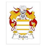 Bailen Family Crest Small Poster