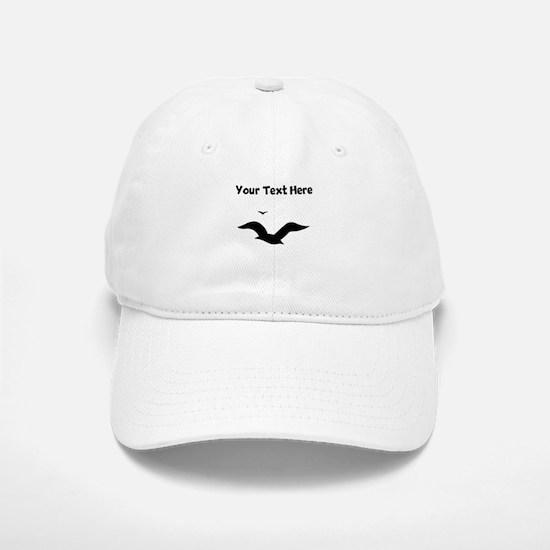 Custom Seagulls Silhouette Baseball Baseball Baseball Cap