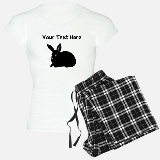 Custom Bunny Silhouette Pajamas