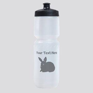 Custom Bunny Silhouette Sports Bottle