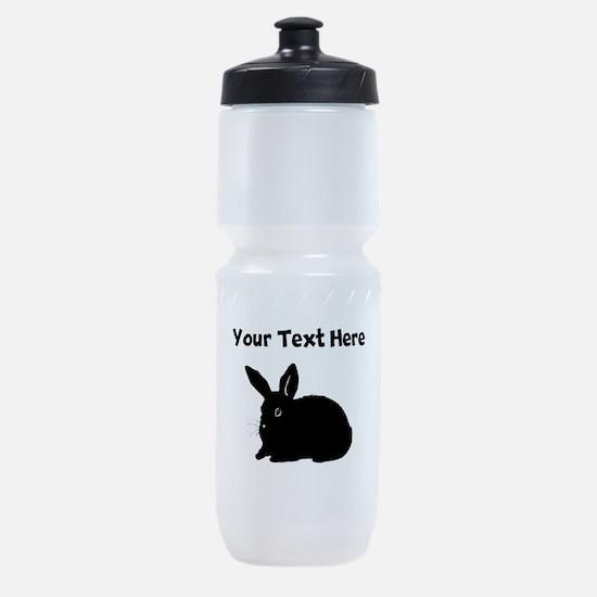 Custom Bunny Silhouette Sports Bottle