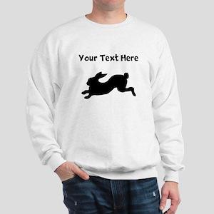 Custom Rabbit Running Silhouette Sweatshirt