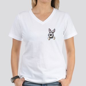 Pocket Schnauzer Women's V-Neck T-Shirt