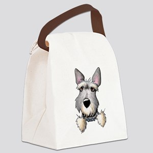 Pocket Schnauzer Canvas Lunch Bag