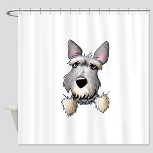 Pocket Schnauzer Shower Curtain