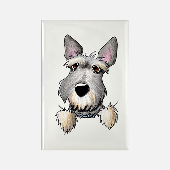 Pocket Schnauzer Rectangle Magnet