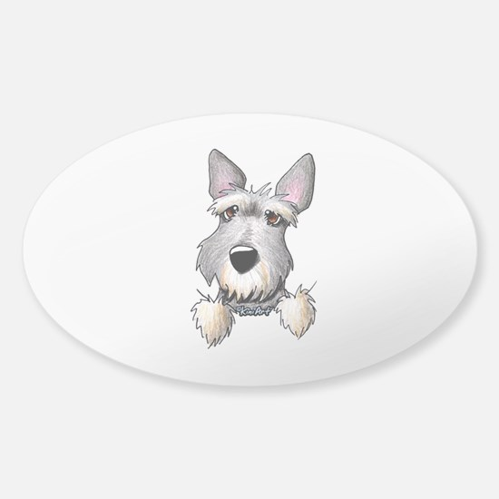 Pocket Schnauzer Sticker (Oval)