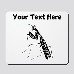 Custom Preying Mantis Silhouette Mousepad