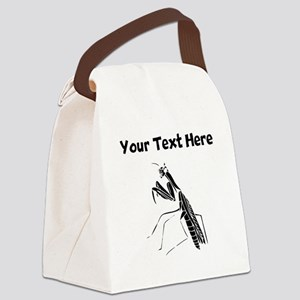 Custom Preying Mantis Silhouette Canvas Lunch Bag