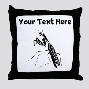 Custom Preying Mantis Silhouette Throw Pillow