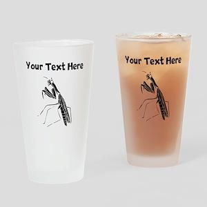Custom Preying Mantis Silhouette Drinking Glass
