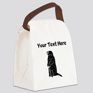 Custom Prairie Dog Silhouette Canvas Lunch Bag