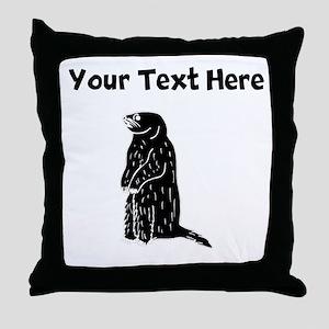 Custom Prairie Dog Silhouette Throw Pillow