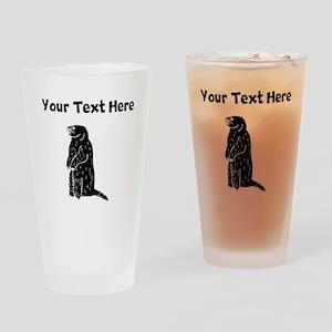 Custom Prairie Dog Silhouette Drinking Glass