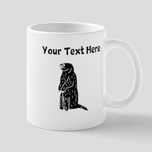 Custom Prairie Dog Silhouette Mugs