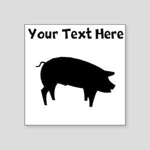 Custom Pig Silhouette Sticker
