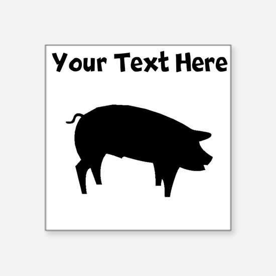 Custom Pig Silhouette Sticker