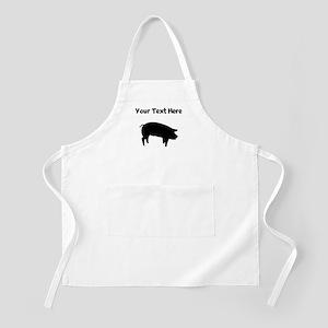 Custom Pig Silhouette Apron