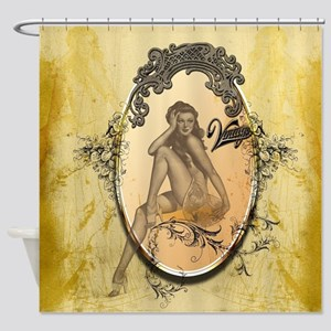 Beautiful pin up girl Shower Curtain