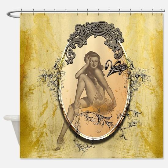 Beautiful pin up girl Shower Curtain