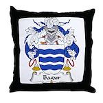 Bagur Family Crest Throw Pillow