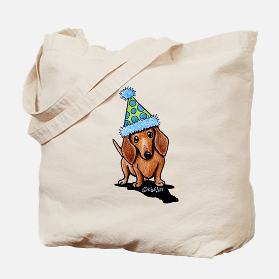 Party Dachshund Tote Bag