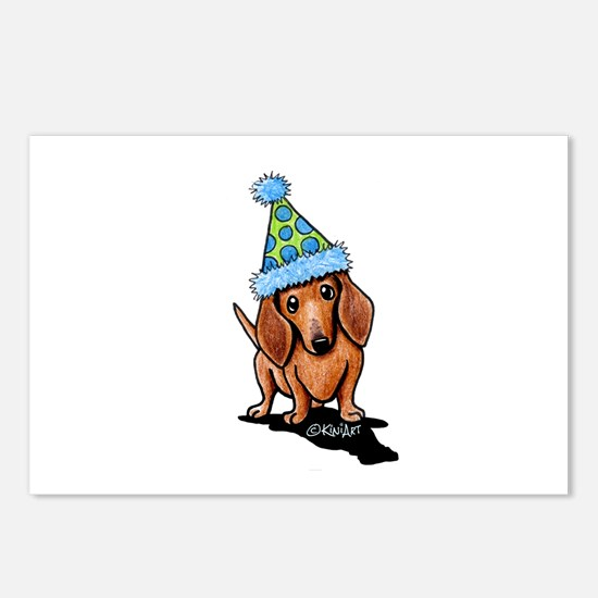 Party Dachshund Postcards (Package of 8)