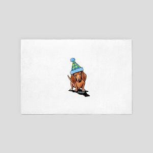 Party Dachshund 4' x 6' Rug